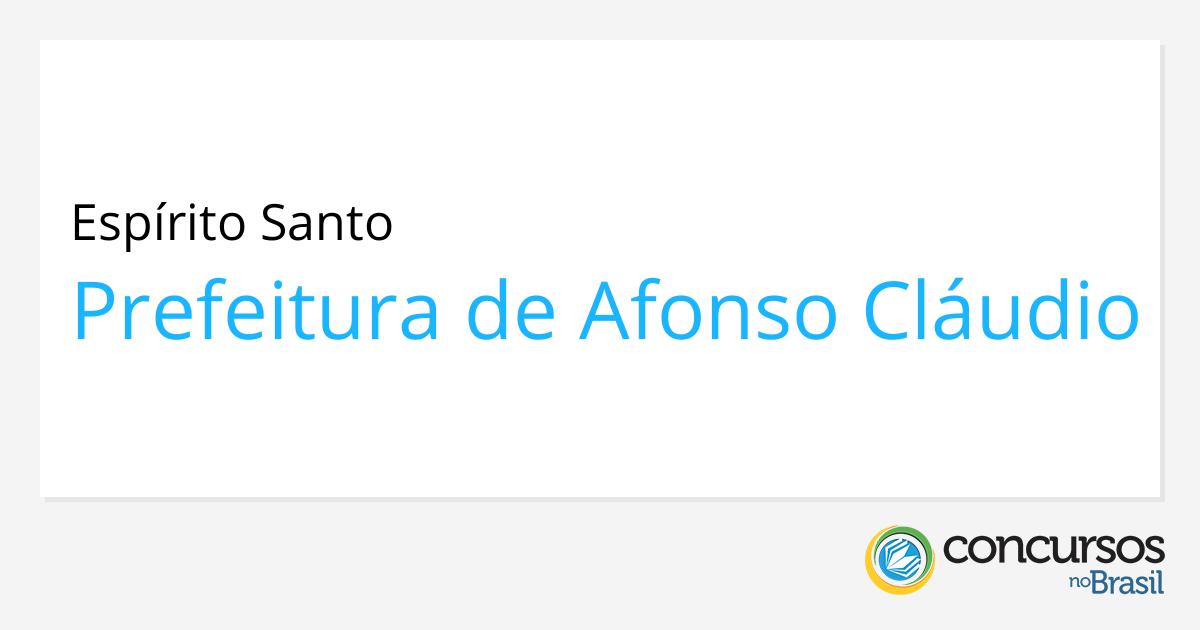 791191ea32 Processo seletivo Prefeitura de Afonso Cláudio - ES